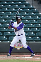 Eloy Jimenez (27) of the Winston-Salem Dash at bat against the Salem Red Sox at BB&T Ballpark on July 23, 2017 in Winston-Salem, North Carolina.  The Dash defeated the Red Sox 11-10 in 11 innings.  (Brian Westerholt/Four Seam Images)