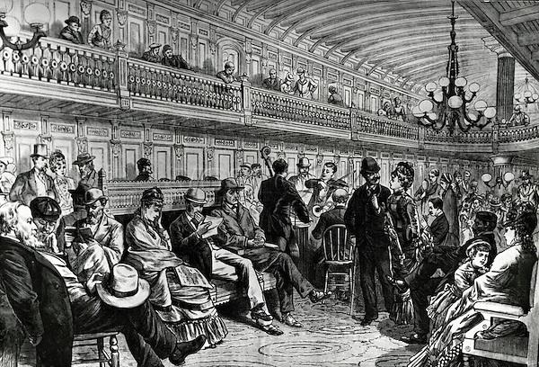 "Main Lounge Of Steamship ""massachusettes"" Artist Unknown"