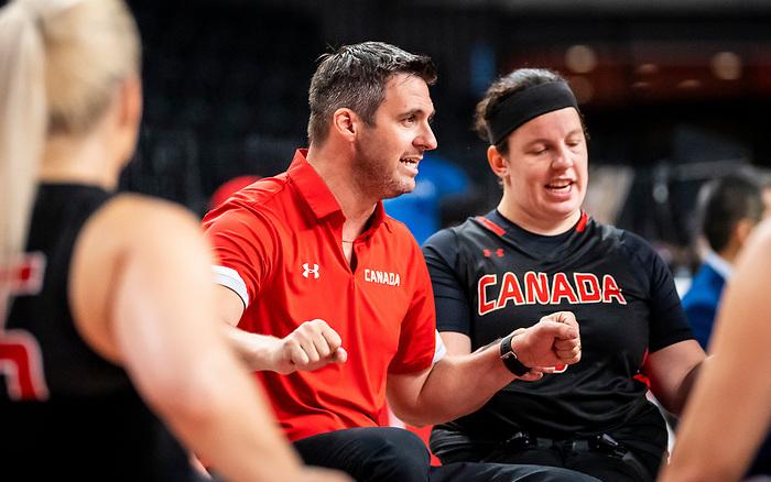 Coach Marc Antoine Ducharme, Tokyo 2020 - Wheelchair Basketball // Basketball en fauteuil roulant.<br /> Canada takes on Germany in a women's preliminary game // Le Canada affronte le Japon dans un match préliminaire masculin. 28/08/2021.