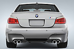 Straight rear view of a 2008 BMW Sedan
