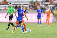Houston, TX - Sunday Sept. 25, 2016: Jessica Fishlock, Andressa Machry during a regular season National Women's Soccer League (NWSL) match between the Houston Dash and the Seattle Reign FC at BBVA Compass Stadium.