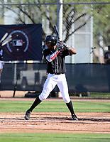 Wilmer Feliciano participates in the MLB International Showcase at Salt River Fields on November 12-14, 2019 in Scottsdale, Arizona (Bill Mitchell)