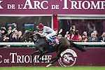 Treve with Jockey Thierry Jarnet wins the Qatar Prix de L'Arce de Triomphe at the Qatar Prix de l'Arc de Triomphe weekend.