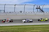 #20: Christopher Bell, Joe Gibbs Racing, Toyota Supra Rheem / RTP, #00: Cole Custer, Stewart-Haas Racing, Ford Mustang Jacob Companies, and #12: Paul Menard, Team Penske, Ford Mustang Menards/Richmond