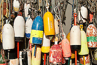 Lobster buoys, Northwest Harbor, Maine, USA.