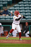 Altoona Curve third baseman Chase Simpson (7) at bat during a game against the New Hampshire Fisher Cats on May 11, 2017 at Peoples Natural Gas Field in Altoona, Pennsylvania.  Altoona defeated New Hampshire 4-3.  (Mike Janes/Four Seam Images)