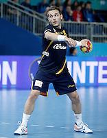 Spain's Victor Tomas Gonzalez during 23rd Men's Handball World Championship preliminary round match.January 15,2013. (ALTERPHOTOS/Acero) /NortePhoto