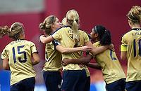 USA celebrate a goal..FIFA U17 Women's World Cup, Paraguay v USA, Waikato Stadium, Hamilton, New Zealand, Sunday 2 November 2008. Photo: Renee McKay/PHOTOSPORT