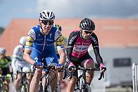 Alvaro Hodeg (COL/Quick Step Floors) in the peloton<br /> <br /> 102nd Kampioenschap van Vlaanderen 2017 (UCI 1.1)<br /> Koolskamp - Koolskamp (192km)