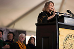 May 19, 2014. Winston Salem, North Carolina.<br />  Former New York Times Executive Editor Jill Abramson gave the commencement address and handed diplomas to graduating students at Wake Forest University.