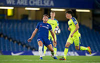 Jordan HOUGHTON of Chelsea in action on his return from injury during the U23 Premier League 2 match between Chelsea and Derby County at Stamford Bridge, London, England on 18 August 2017. Photo by Andy Rowland.<br /> **EDITORIAL USE ONLY FA Premier League and Football League are subject to DataCo Licence.