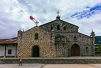south America, Guatemala. San Juan La laguna, child play withe his kite