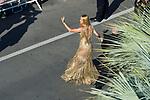 70eme Festival International du Film de Cannes. Montee de la ceremonie de cloture, vues du toit du Palais . 70th International Cannes Film Festival. Vew from rof top of closing red carpet<br /> <br /> Thurman, Uma