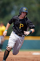 Pittsburgh Pirates catcher Jason Delay (16) running the bases during an Instructional League intrasquad black and gold game on September 28, 2017 at Pirate City in Bradenton, Florida.  (Mike Janes/Four Seam Images)