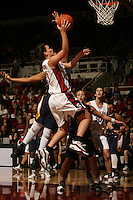 14 January 2006: Jillian Harmon during Stanford's 87-75 win over the California Golden Bears at Maples Pavilion in Stanford, CA.