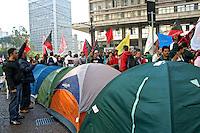 Luta por moradia. Manifestaçao da Central de Movimentos Populares, CMP. Sao Paulo. 2014. Foto de Lineu Kohatsu.