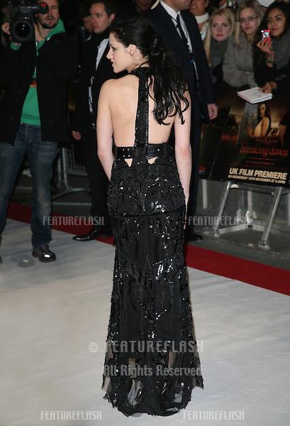 Kristen Stewart arriving for the UK premiere of The Twilight Saga: Breaking Dawn Part 1 at Westfield Stratford City, London. 17/11/2011 Picture by: Alexandra Glen / Featureflash
