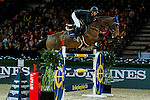 Jane Richard Philips of Switzerland rides Pablo de Virton competes at the Laiterie de Montaigu Trophy during the Longines Hong Kong Masters 2015 at the AsiaWorld Expo on 14 February 2015 in Hong Kong, China. Photo by Xaume OIleros / Power Sport Images