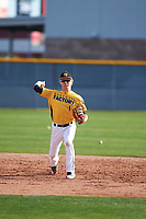 Fisher Pyatt (1) of St. Augustine High School in San Diego, California during the Baseball Factory All-America Pre-Season Tournament, powered by Under Armour, on January 14, 2018 at Sloan Park Complex in Mesa, Arizona.  (Zachary Lucy/Four Seam Images)