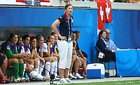 USA's Coach Jill Ellis during the FIFA U20 Women's World Cup at the Rudolf Harbig Stadium in Dresden, Germany on July 17th, 2010.