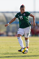 Bradenton, FL - Sunday, June 12, 2018: Rebeca Villuendas during a U-17 Women's Championship Finals match between USA and Mexico at IMG Academy.  USA defeated Mexico 3-2 to win the championship.