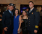 Middlebury, CT-051819MK21 (from Left) Harold and Amanda Zinno with Chelsey Pierce and Deputy Chief Brian Shaban gathered for a fundraiser to benefit the Middlebury Emergency Fund and the fire department at the Vyne Restaurant in Middlebury Saturday evening. Michael Kabelka / Republican-American