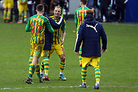 West Bromwich Albion players celebrate the victory after Millwall vs West Bromwich Albion, Sky Bet EFL Championship Football at The Den on 9th February 2020