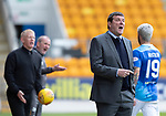 St Johnstone v Livingston….04.05.19      McDiarmid Park        SPFL<br />Managers Tommy Wright and Gary Holt shout instructions<br />Picture by Graeme Hart. <br />Copyright Perthshire Picture Agency<br />Tel: 01738 623350  Mobile: 07990 594431