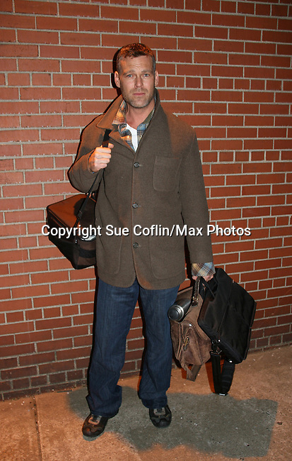 Grayson McCouch - outside the As The World Turns Studios on February 5, 2010 in Brooklyn, New York. (Photo by Sue Coflin/Max Photos)