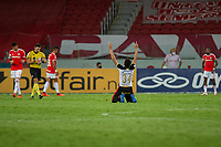 10th February 2021; Beira-Rio Stadium, Porto Alegre, Brazil; Brazilian Serie A, Internacional versus Sport Recife; Adryelson of Sport Recife celebrates their 2-1 win after the match