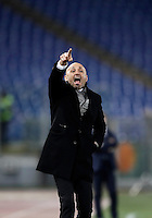 Calcio, Serie A: Roma vs Cagliari, Roma, stadio Olimpico, 22 gennaio 2017.<br /> Roma's coach Luciano Spalletti gives indications to his players during the Italian Serie A football match between Roma and Cagliari at Rome's Olympic stadium, 22 January 2017. <br /> UPDATE IMAGES PRESS/Isabella Bonotto