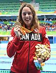 Aurelie Rivard, Rio 2016 - Para Swimming // Paranatation.<br /> Aurelie Rivard wins the gold medal in the women's 50m free finals // Aurélie Rivard remporte la médaille d'or en finale du 50 m libre féminin. 09/09/2016.