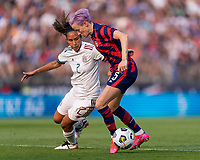 EAST HARTFORD, CT - JULY 5: Megan Rapinoe #15 of the USWNT carries the ball during a game between Mexico and USWNT at Rentschler Field on July 5, 2021 in East Hartford, Connecticut.