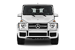 Car photography straight front view of a 2018 Mercedes Benz G-Class AMG-G63 5 Door SUV Front View