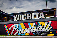 Stadium front prior to the inaugural game at the new Wichita Baseball stadium between the Wichita Wind Surge and the Amarillo Sod Poodles at Riverfront Stadium on May 11th, 2021 in Wichita, Kansas. (William Purnell/Four Seam Images)