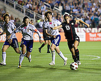 Alex Morgan, Homare Sawa. The USWNT defeated Japan, 2-0,  at WakeMed Soccer Park in Cary, NC.