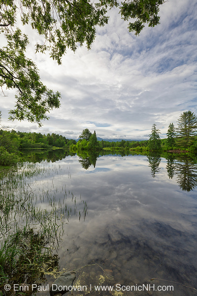 Coffin Pond in Sugar Hill, New Hampshire USA during the spring months. Coffin Pond is a scenic roadside attraction.