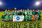 Killarney Celtic hold the cup aloft having defeated Dingle Bay Rovers in the Jimmy Falvey Memorial Final
