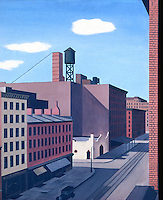 American Painters:  George Ault--Hudson Street 1932. Oil on canvas.  Whitney Museum of American Art.