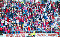 Georgia Bulldogs vs Arkansas Razorback Women's Soccer -   Crowd do the calling of the Hogs at Razorback Field, Fayetteville, AR on Sunday, October 27, 2019 - Special to NWA Democrat Gazette David Beach