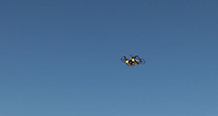 BNPS.co.uk (01202 558833)<br /> Pic: EllipsisEarth/BNPS<br /> <br /> Pictured: The drone in flight.<br /> <br /> Litter dropped in Britain's most popular seaside resort reduced by 75 per cent this summer thanks to a new project using drone technology.<br /> <br /> The first-of-its kind survey identified alarming litter patterns along Bournemouth beach in Dorset with a staggering 123,000 bits of litter discarded in just one week.<br /> <br /> The data was then used to target the worst areas with strategic bin placement.