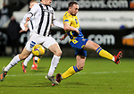 Dunfermline v St Johnstone…15.12.20   East End Park      BetFred Cup<br />Chris Kane fails to make contact with a  Scott Tanser cross<br />Picture by Graeme Hart.<br />Copyright Perthshire Picture Agency<br />Tel: 01738 623350  Mobile: 07990 594431