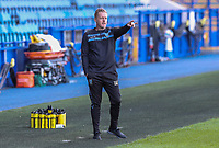 Sheffield Wednesday manager Garry Monk shouts instructions to his team from the technical area<br /> <br /> Photographer Alex Dodd/CameraSport<br /> <br /> The EFL Sky Bet Championship - Sheffield Wednesday v Watford - Saturday 19th September 2020 - Hillsborough Stadium - Sheffield <br /> <br /> World Copyright © 2020 CameraSport. All rights reserved. 43 Linden Ave. Countesthorpe. Leicester. England. LE8 5PG - Tel: +44 (0) 116 277 4147 - admin@camerasport.com - www.camerasport.com