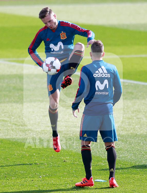 Spain's Saul Niguez during training session. November 8,2017.(ALTERPHOTOS/Acero)