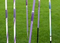 Farbenfreudige Speere warten auf ihren Einsatz im Wettkampf. Foto: Jan Kaefer / aif