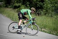 Green Jersey Wout van Aert (BEL/Jumbo - Visma)<br /> <br /> Stage 6: Saint-Vulbas to Saint-Michel-de-Maurienne (228km)<br /> 71st Critérium du Dauphiné 2019 (2.UWT)<br /> <br /> ©kramon