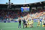 The Hague, Netherlands, June 12: After the field hockey semi-final match (Women) between USA and Australia on June 12, 2014 during the World Cup 2014 at Kyocera Stadium in The Hague, Netherlands. Final score after full time 2-2 (0-1). Score after shoot-out 1-3. (Photo by Dirk Markgraf / www.265-images.com) *** Local caption ***