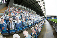 A general view of the card crowd at Colchester before Colchester United vs Oldham Athletic, Sky Bet EFL League 2 Football at the JobServe Community Stadium on 3rd October 2020
