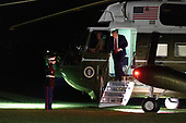 United States President Donald J. Trump steps off Marine One as he returns to the White House in Washington, DC after attending a political event in Fayetteville, North Carolina on Saturday, September 19, 2020. <br /> Credit: Chris Kleponis / Pool via CNP