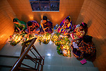 """Pictured: Tens of thousands of Hindu worshipers gather on dozens of floors to celebrate Rakher Upobash, last night, (Tuesday 10th), a fasting festival at Lokenath Brahmachari Temple in Dhaka , Bangladesh.The festival is held on every Saturday and Tuesday during the last 15 days in the month of """"Kartik"""" in the Bengali calendar.Lighting small lamps, also known as Prodips, and special incense, Hindu worshipers fast and pray in earnest to the gods for favours during this  traditional ritual called Kartik Brati or Rakher Upobash. Lokenath Brahmachari, mostly known as Baba Lokenath, was an 18th Century Hindu saint and philosopher in Bengal.<br /> <br /> Please byline: Azim Khan Ronnie/Solent News<br /> <br /> © Azim Khan Ronnie/Solent News & Photo Agency<br /> UK +44 (0) 2380 458800"""
